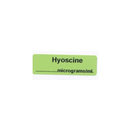 Hioscyna mcg/ml, pudełko 400 naklejek