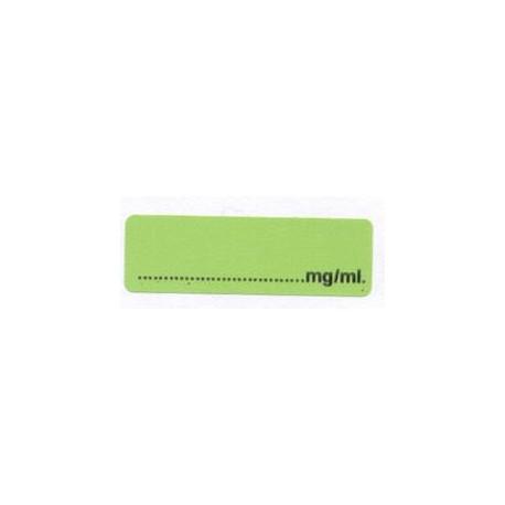 Pusty - zielony mg/ml, pudełko 400 naklejek