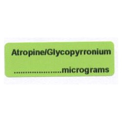 Atropina/Glikopirronium mcg/ml, pudełko 400 naklejek