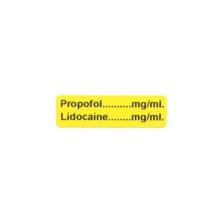 Propofol mg/ml - Lignokaina mg/ml