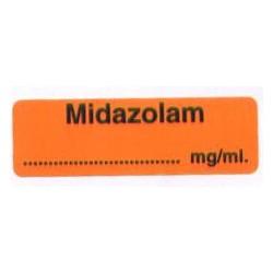 Midazolam, pudełko 400 naklejek