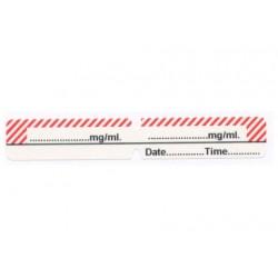 Pusty biały + czerwona obwódka, pudełko 200 naklejek