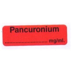 Pankuronium, pudełko 400 naklejek