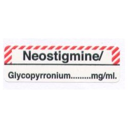 Neostygmina/Glikopironium, pudełko 400 naklejek