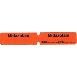 Midazolam, pudełko 200 naklejek