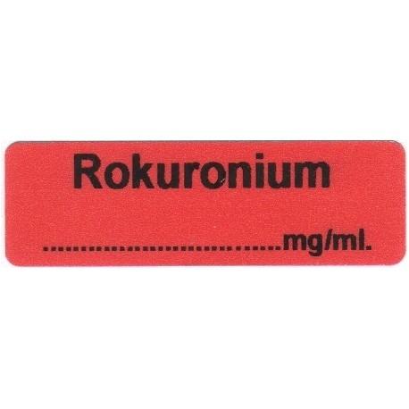Rokuronium, pudełko 400 naklejek