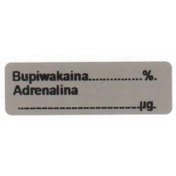 Bupiwakaina/Adrenalina %, pudełko 400 naklejek