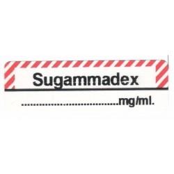Sugammadex, pudełko 400 naklejek