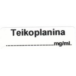 Teicoplanina mg/ml, pudełko 400 naklejek