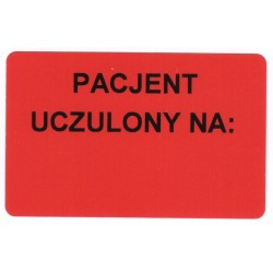 Pacjent uczulony na: