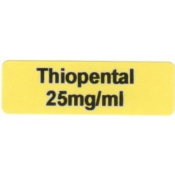 Thiopental 25mg/ml
