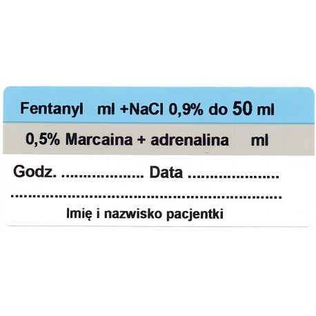 Fentanyl + Marcaina + adrenalina ZOP