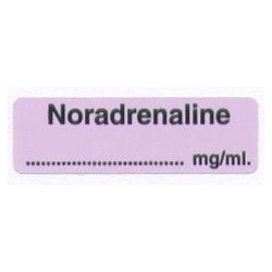 Noradrenalina mg/ml, pudełko 400 naklejek